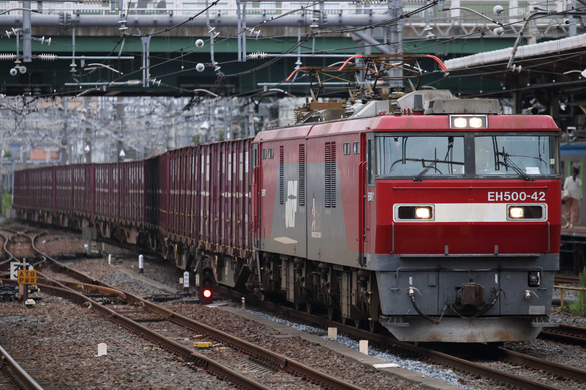 3074列車 EH500-42②[仙貨]+コキ20車