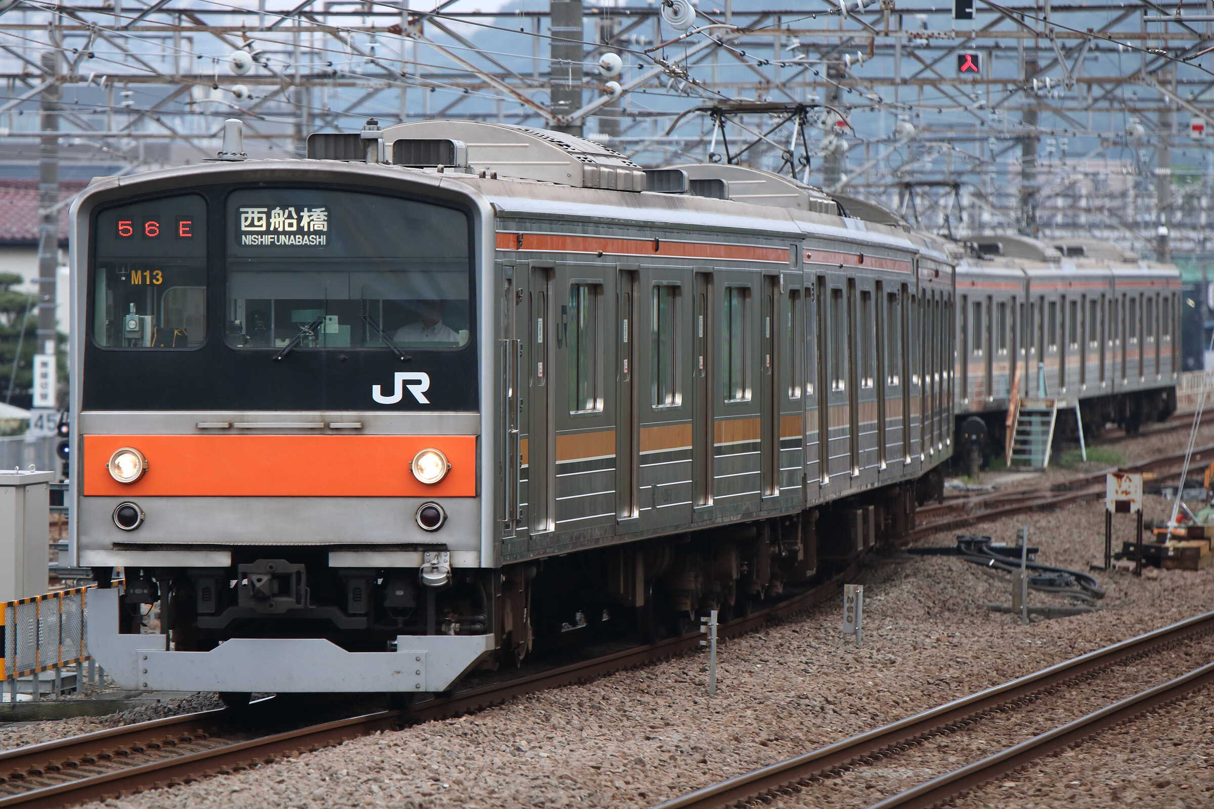 1556E〜入換〜1757E 205系 千ケヨM13編成