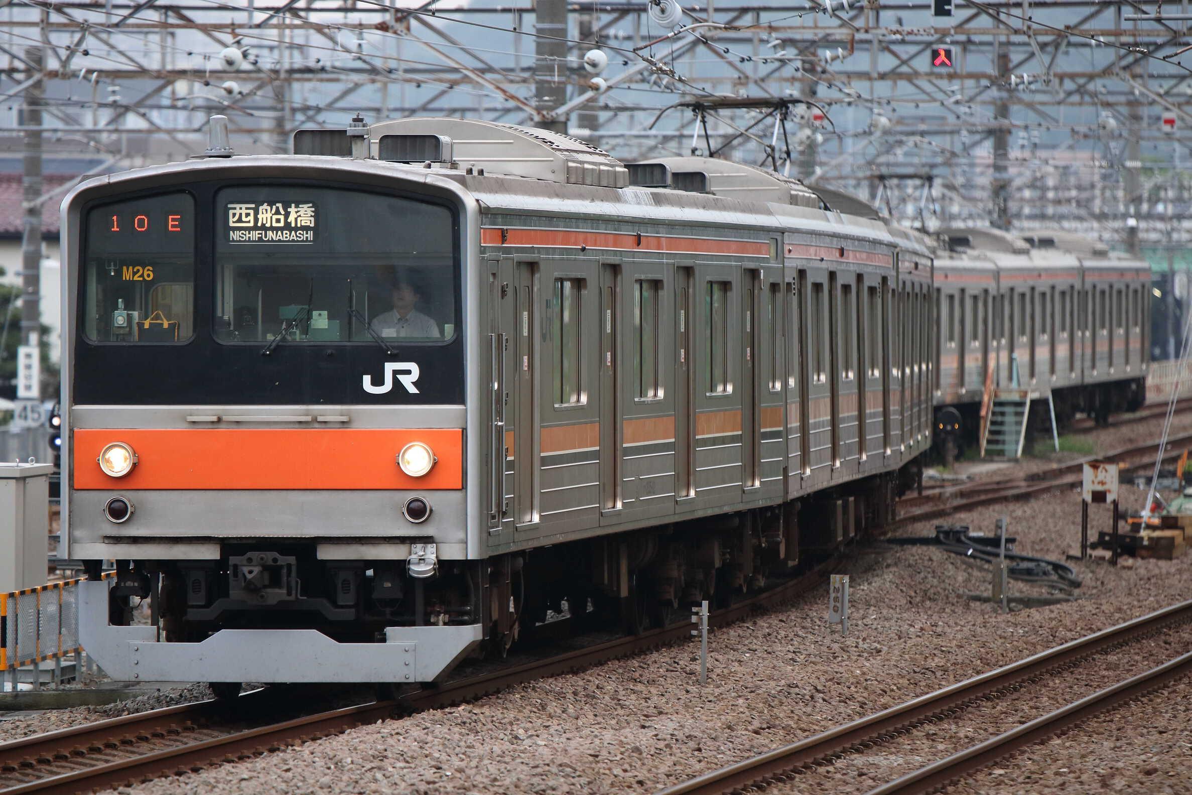 1510E〜入換〜1711E 205系 千ケヨM26編成