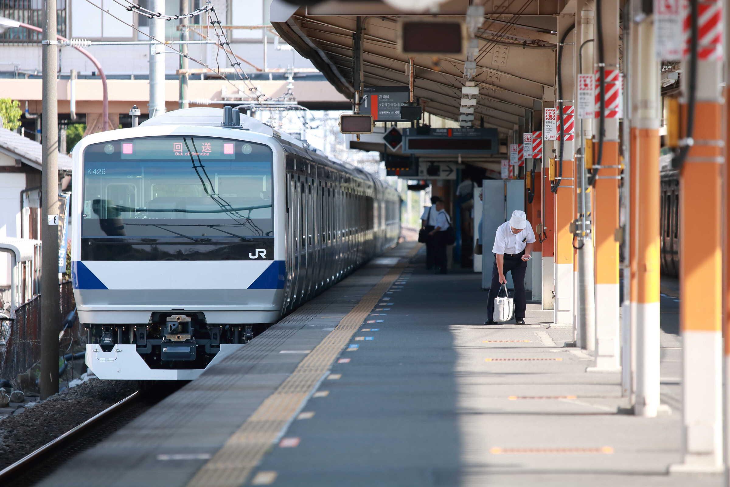 配9772列車 J-TREC新津事業所出場配給 EF64-1030①[長岡]+E531系 水カツK426編成