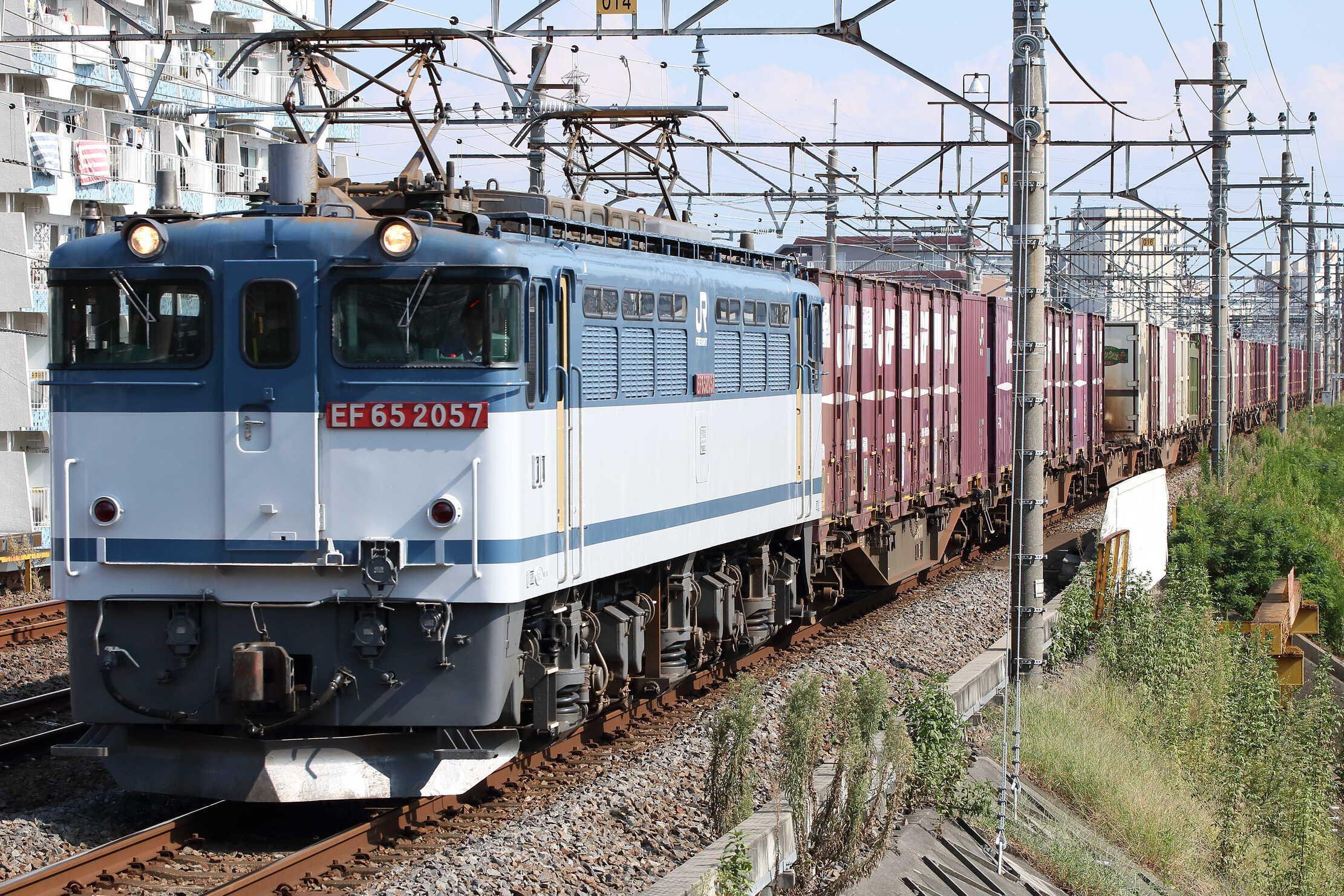 74列車 EF65-2057①[新]+コキ