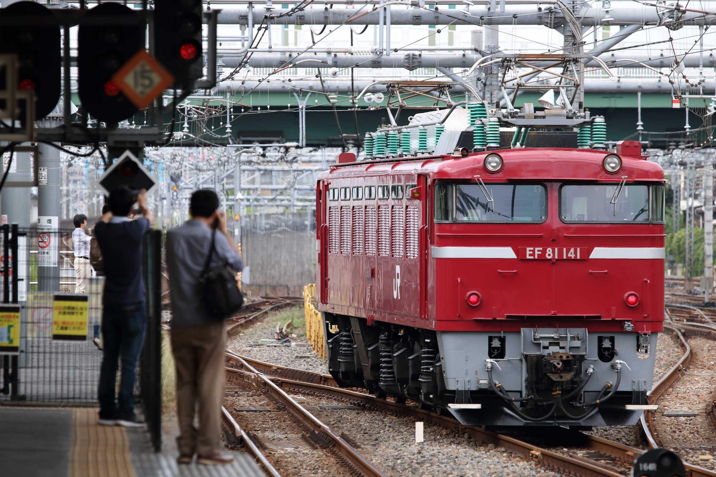単9726列車〜単9133列車 KY出場牽引機送り込み EF81-141[長岡]<臨A450>(コリ方②)