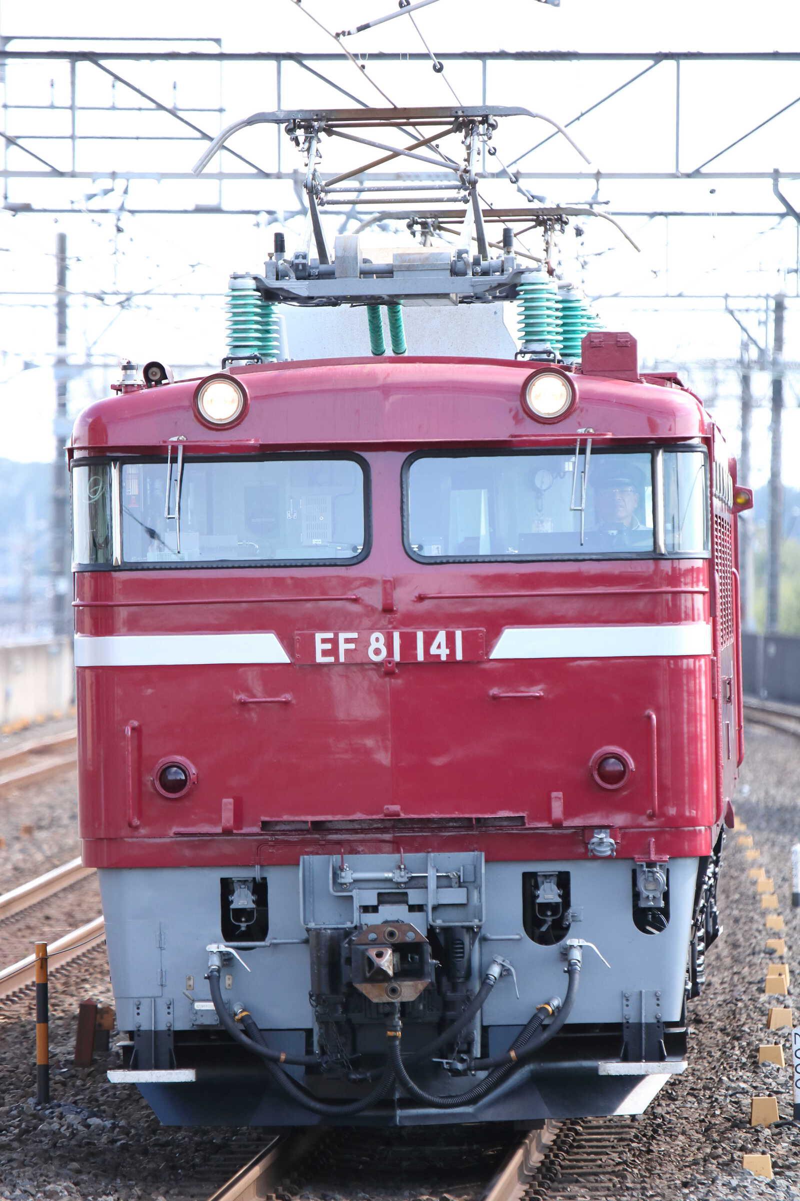 単9133列車 KY出場牽引機送り込み EF81-141②[長岡]<臨A450>