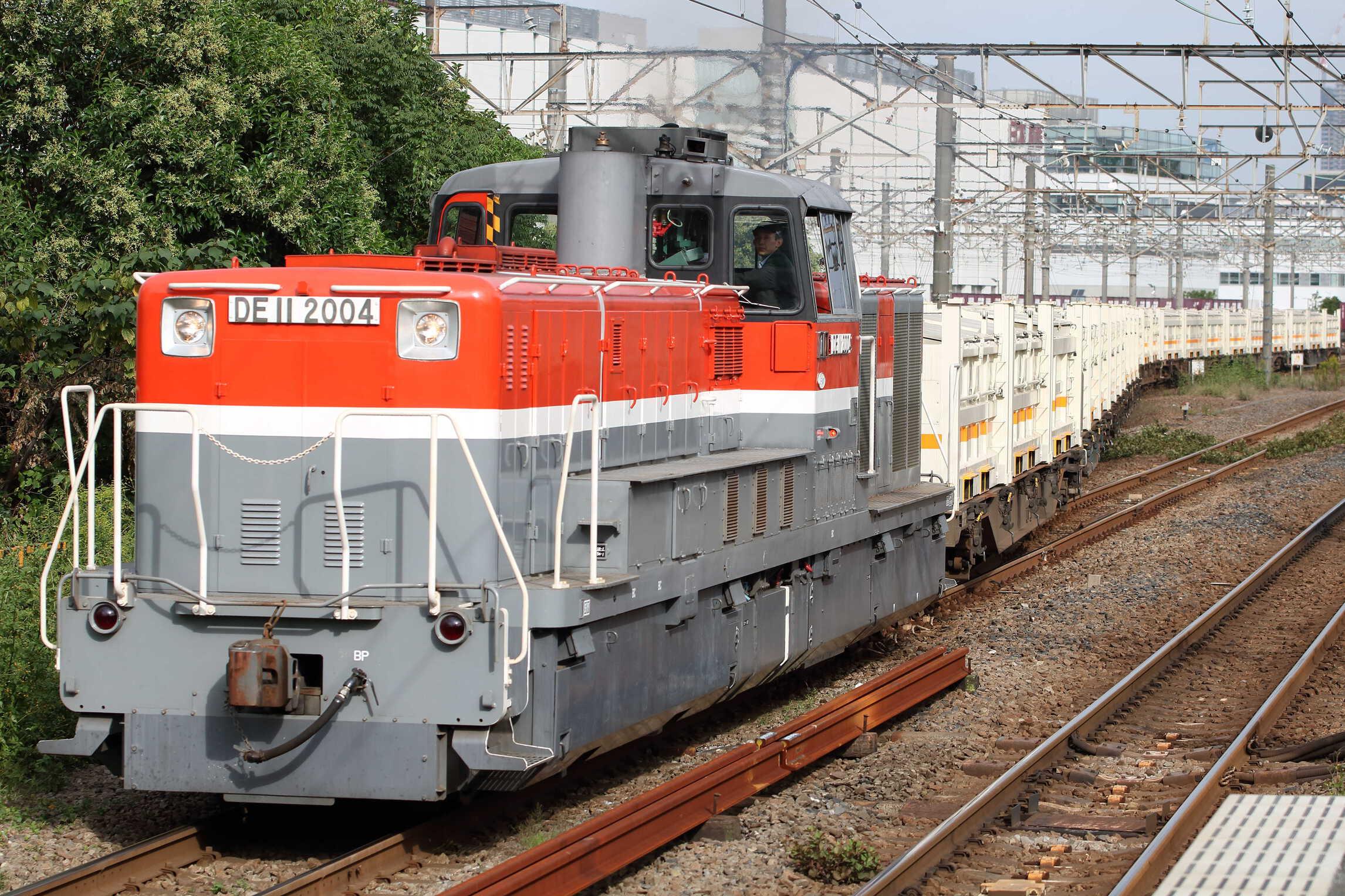 8150列車 リニア残土輸送 DE11-2004①[新]+コキ
