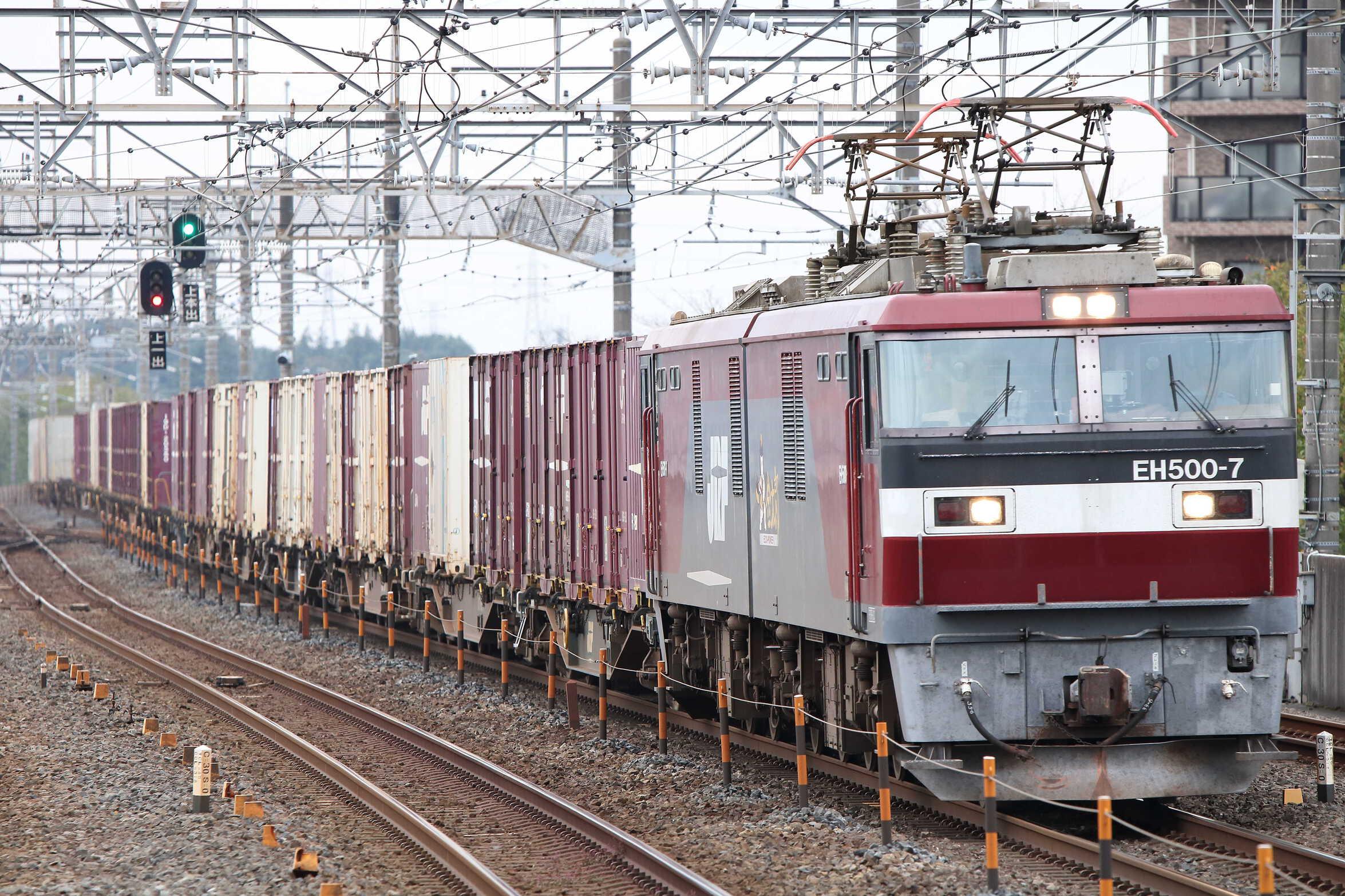 3055列車 EH500-7①[仙貨]+コキ