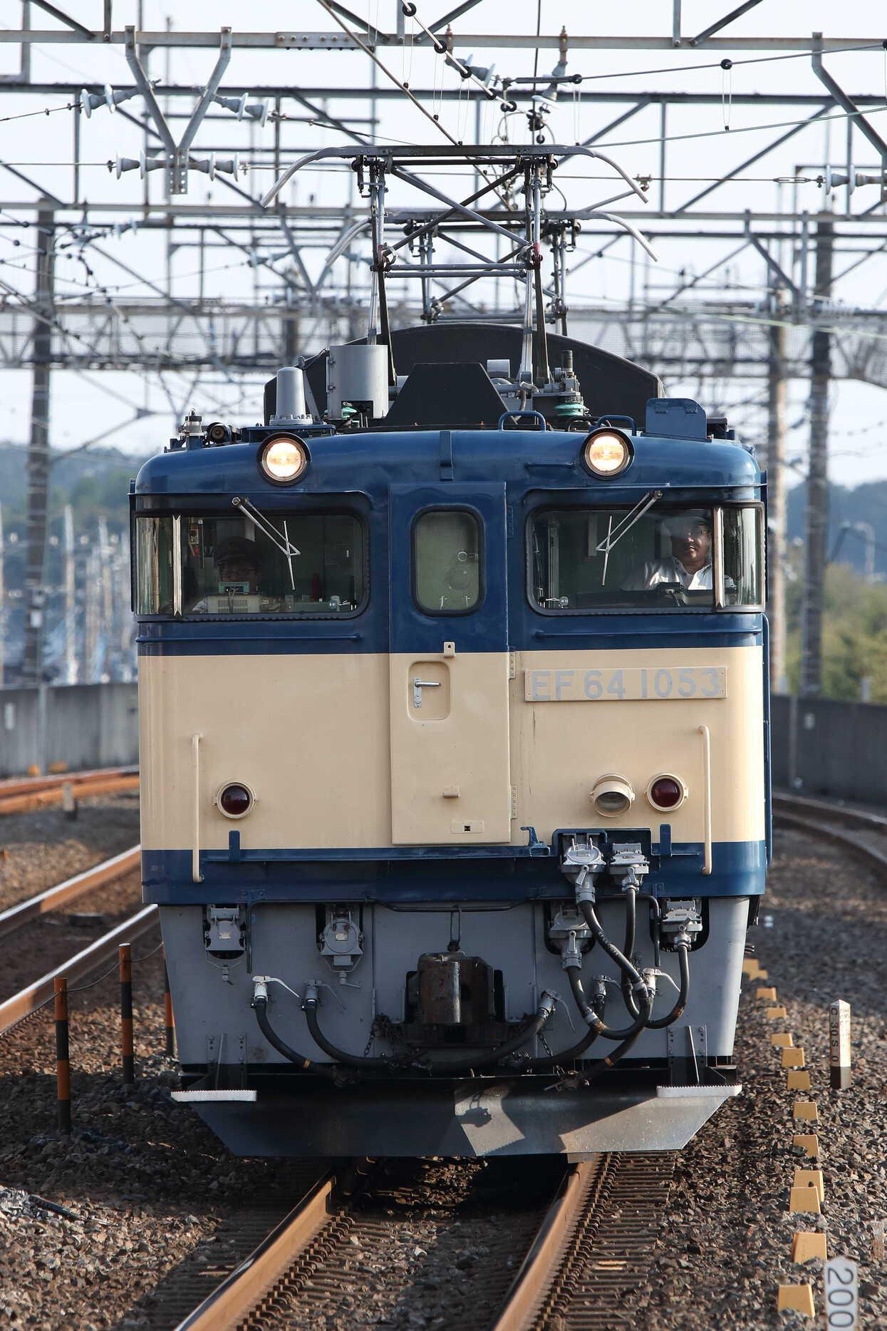 単9551列車 旧客回送牽引機黒磯送り込み EF64-1053②[高]