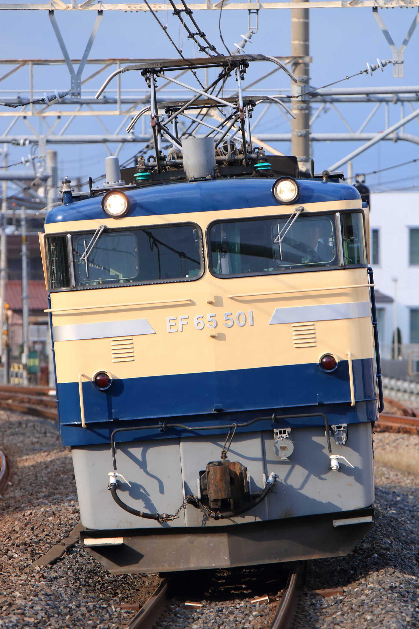 単9820列車 12系回送牽引機黒磯送り込み EF65-501[高]