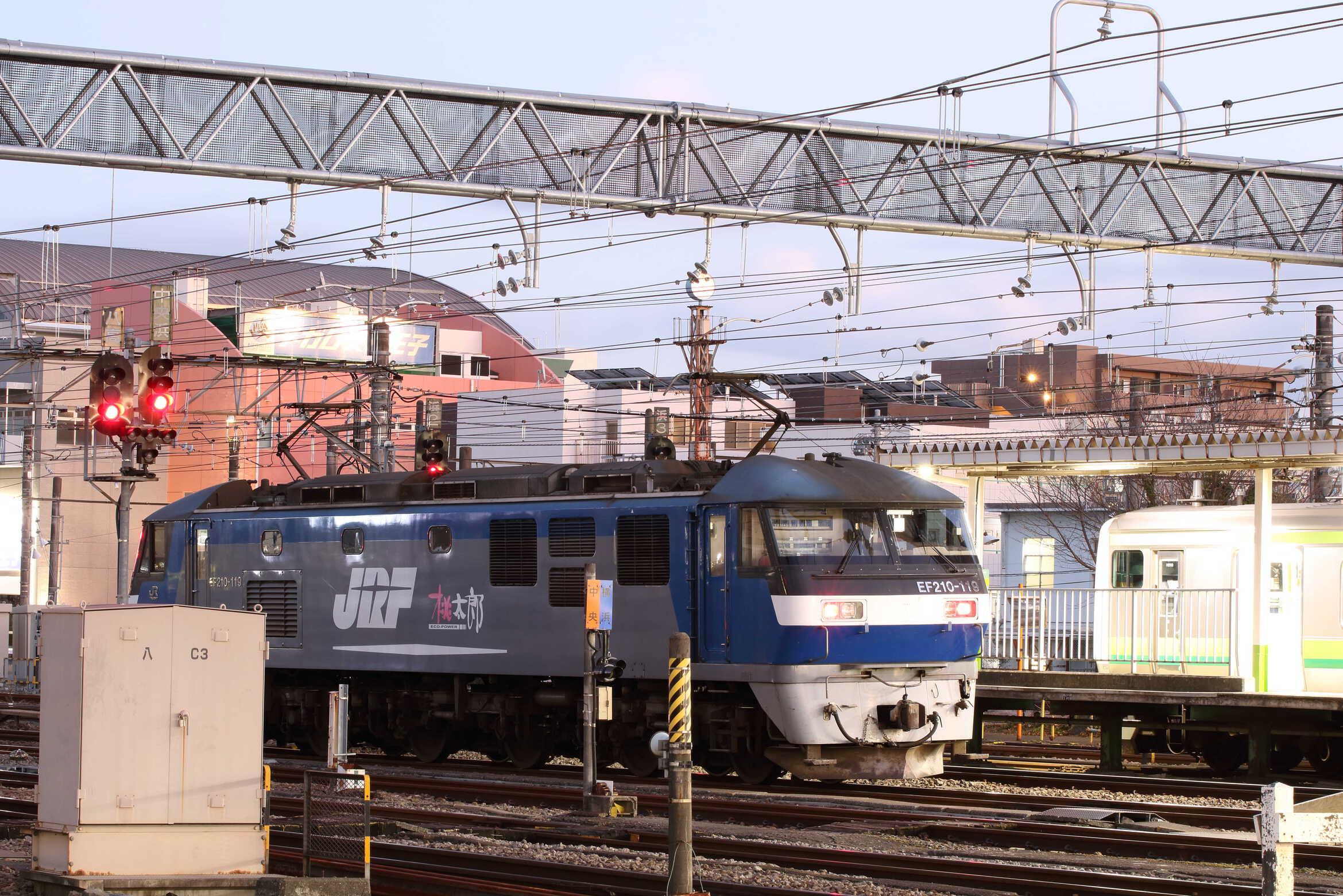 入換〜84列車(列車種別変更 : 単機) EF210-119[新]