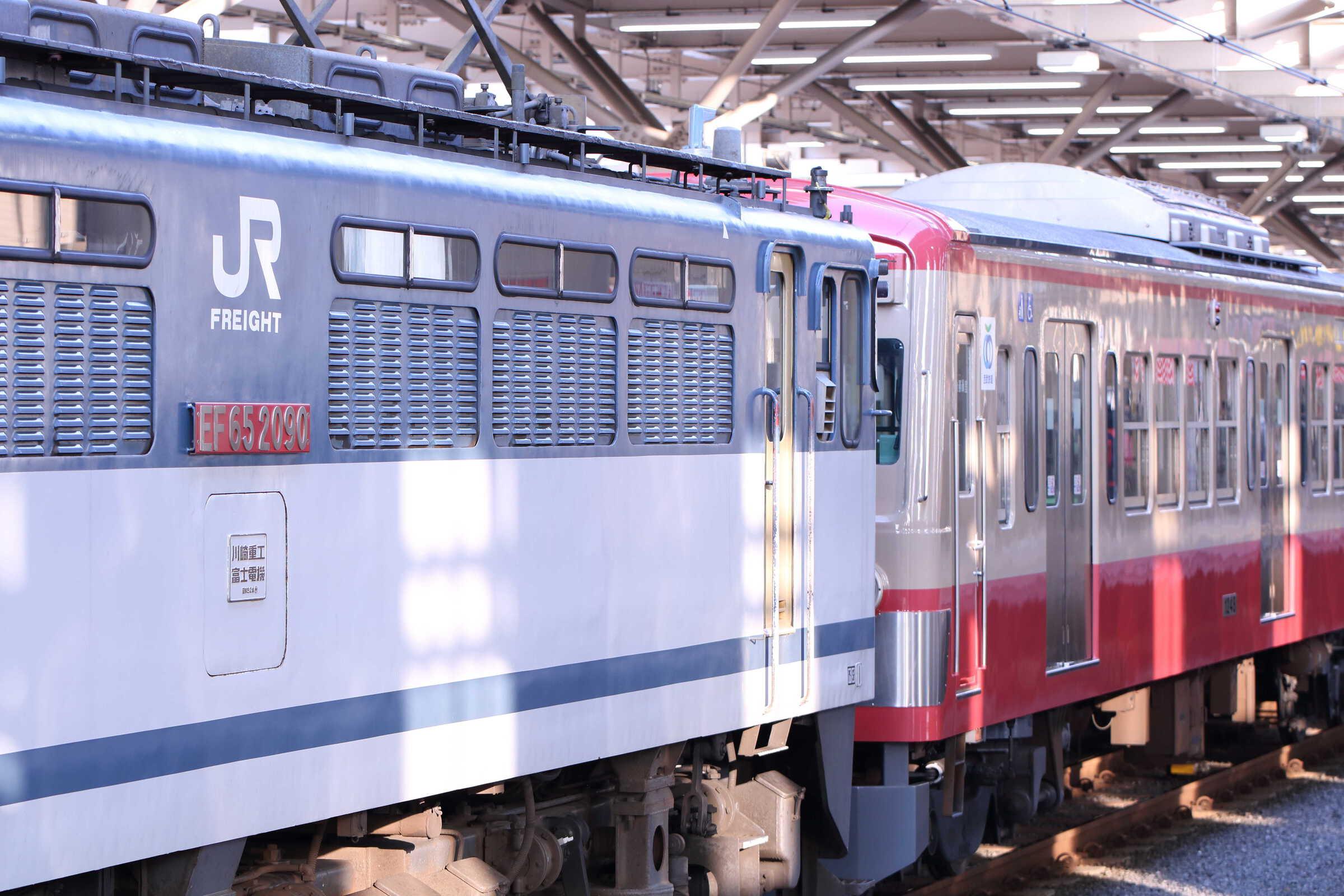 9267列車 甲222(新秋津(小手指)〜武蔵境) EF65-2090②[新]+西武101系 247F