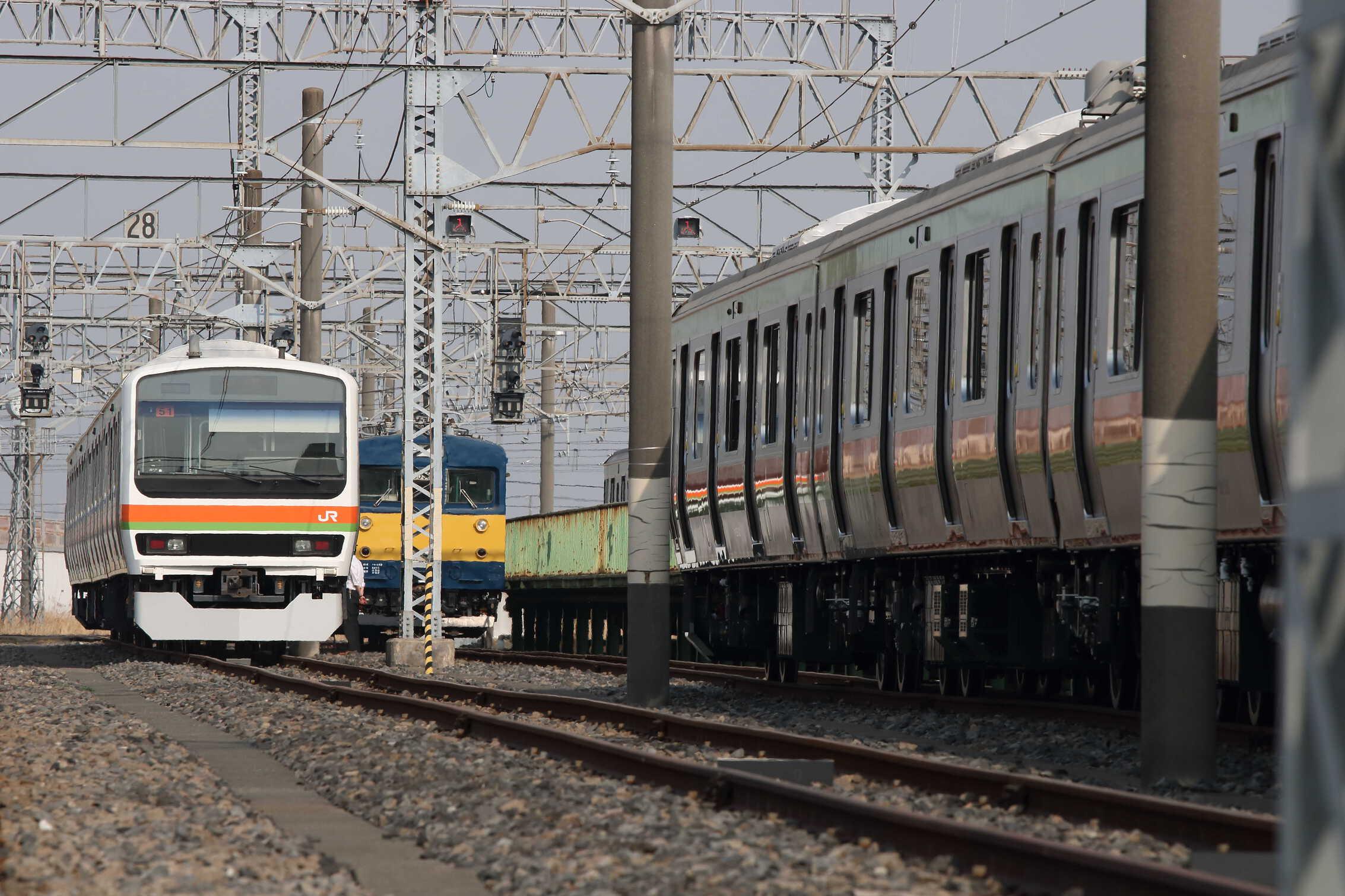 川越車セ構内入換(着発3→29番2区)〜入区 クモヤ143-11