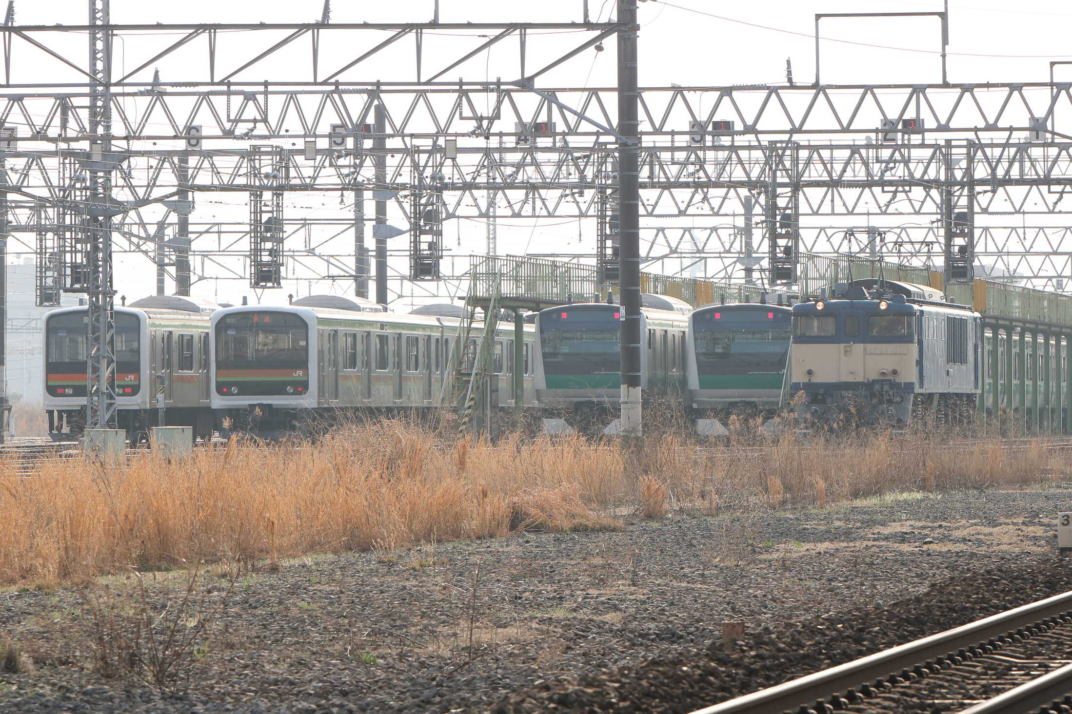 川越車セ構内入換(2番→着発2)〜単9624列車 OM出場牽引機返却 EF64-1031[長岡]