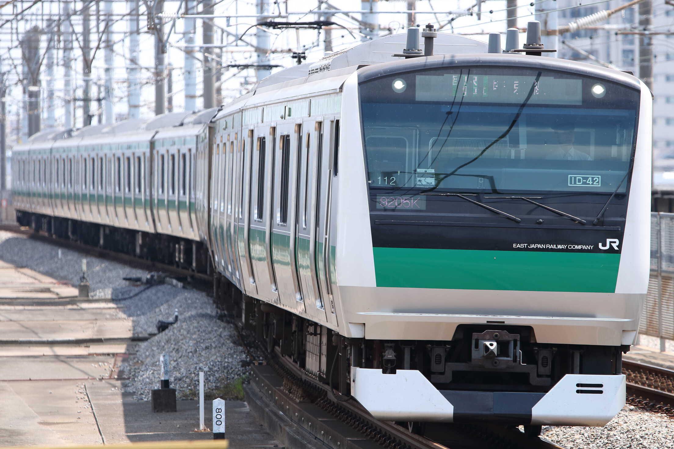 9205K(シク〜オオ) 渋谷駅線路切り替え工事に伴う臨時列車 E233系 宮ハエ112編成