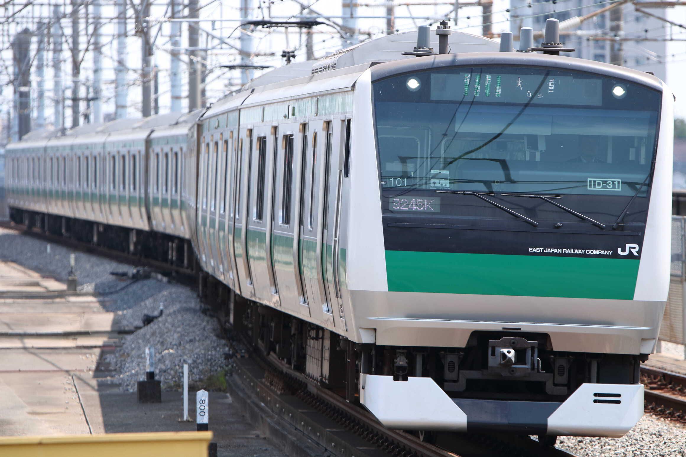 9245K(シク〜オオ) 渋谷駅線路切り替え工事に伴う臨時列車 E233系 宮ハエ101編成