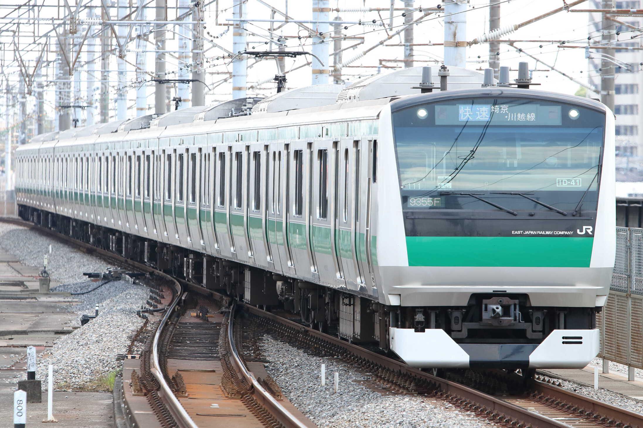 9355F(シク〜ハエ) 渋谷駅線路切り替え工事に伴う臨時列車 E233系 宮ハエ111編成
