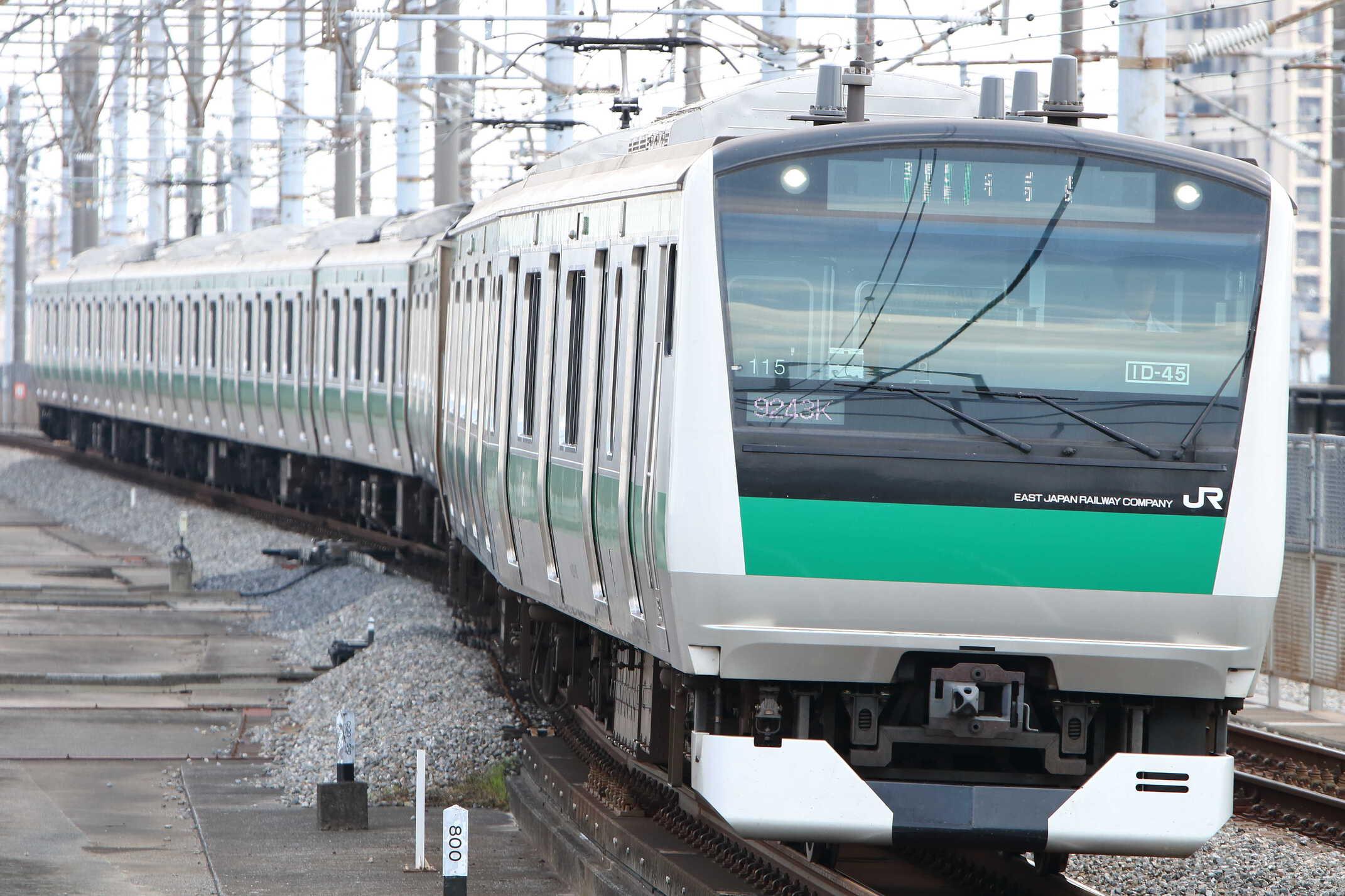 9243K(シク〜オオ) 渋谷駅線路切り替え工事に伴う臨時列車 E233系 宮ハエ115編成