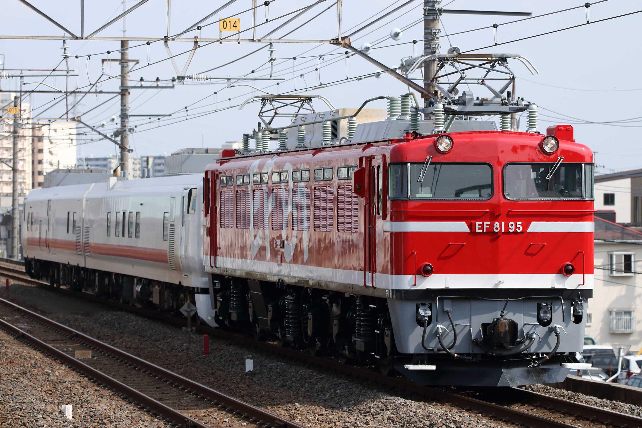 回9847列車 宇都宮送り込み EF81-95[田]+キヤE193系2車(秋アキ)