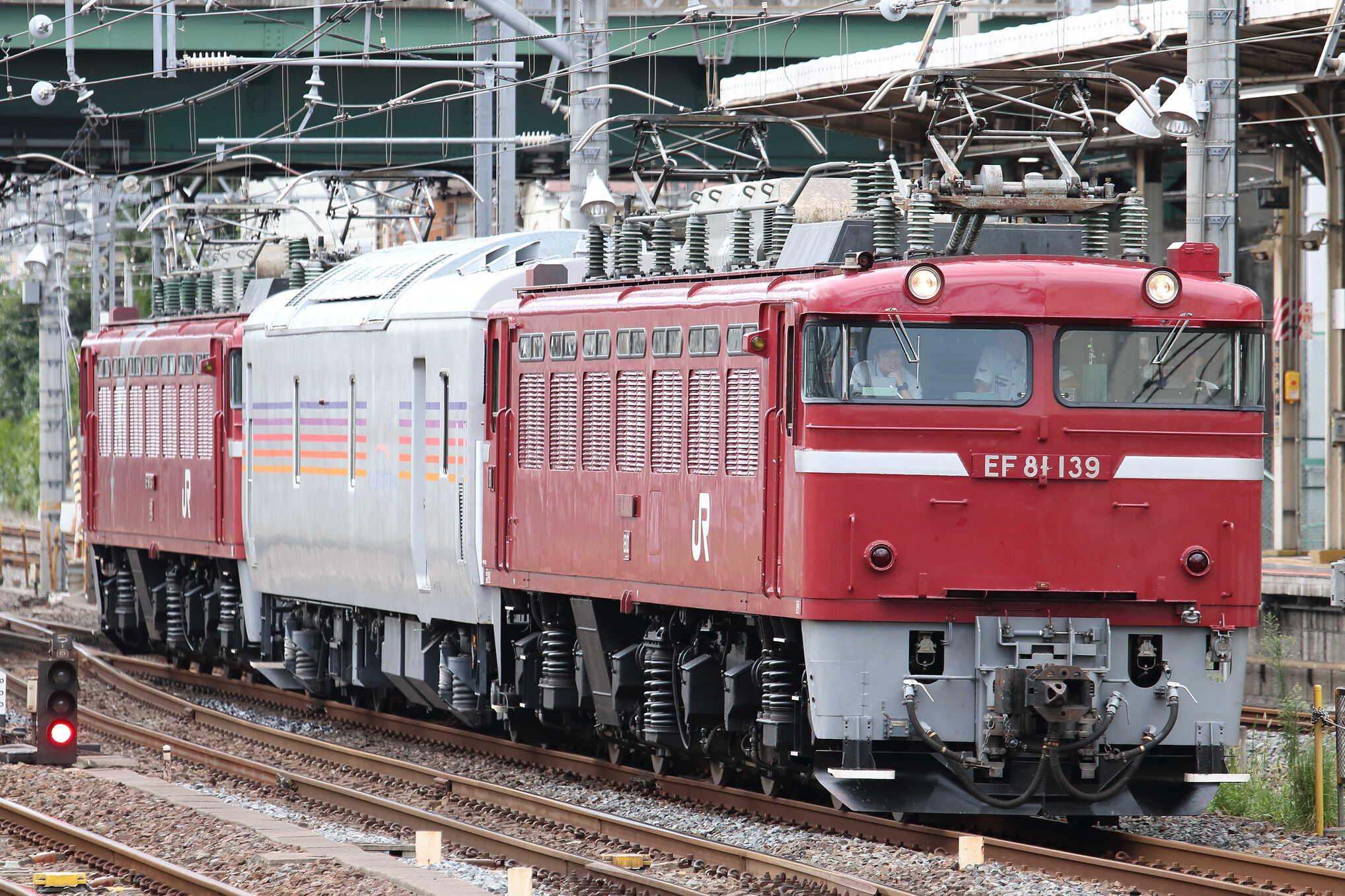 試9502列車 田端運転所EL転換訓練 EF81-139[田]+カヤ27-501+EF81-133[田]