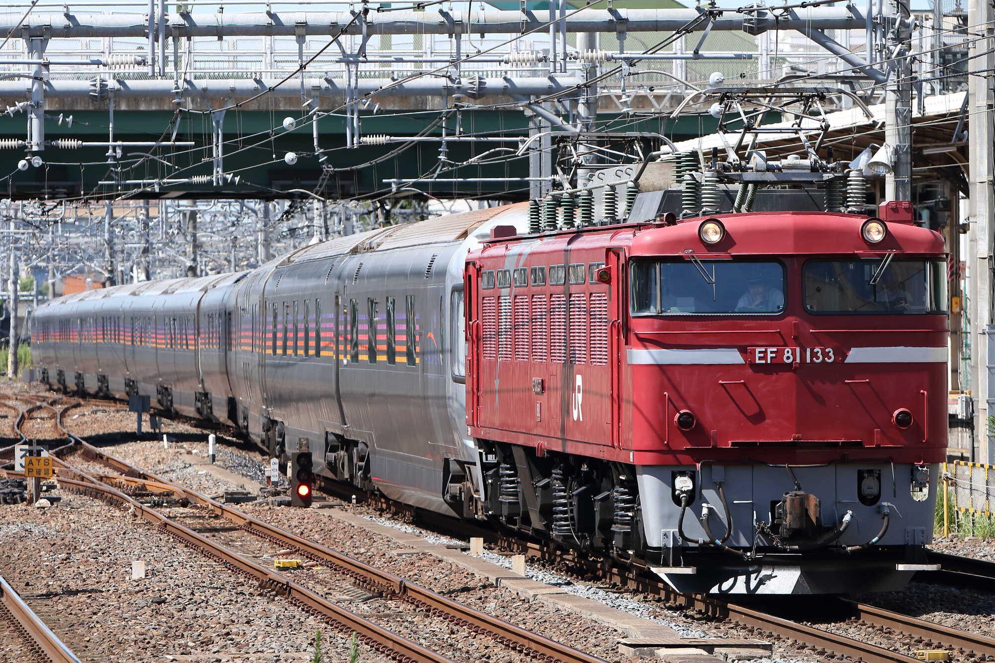 試9502列車 田端運転所EL転換訓練 EF81-133[田]+E26系12車(東オク)