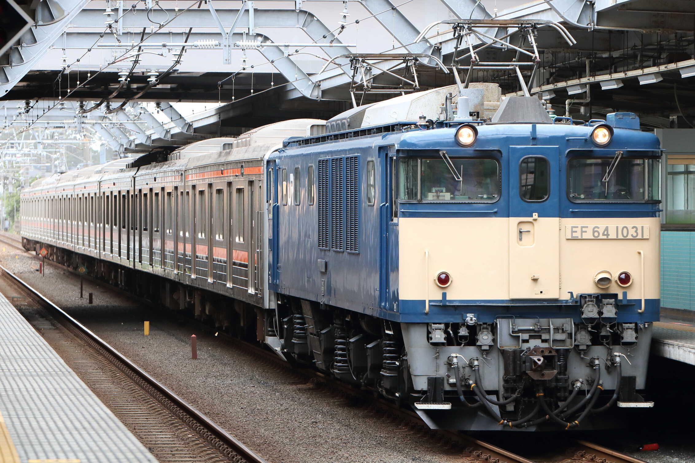 配9722列車 新津入場配給(ジャカルタ譲渡) EF64-1031[長岡]+205系 千ケヨM36編成