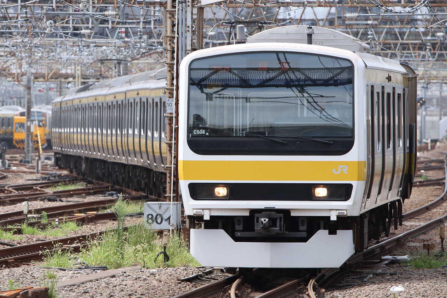 回9572M TK公開展示車両送り込み 209系 八ミツC508編成