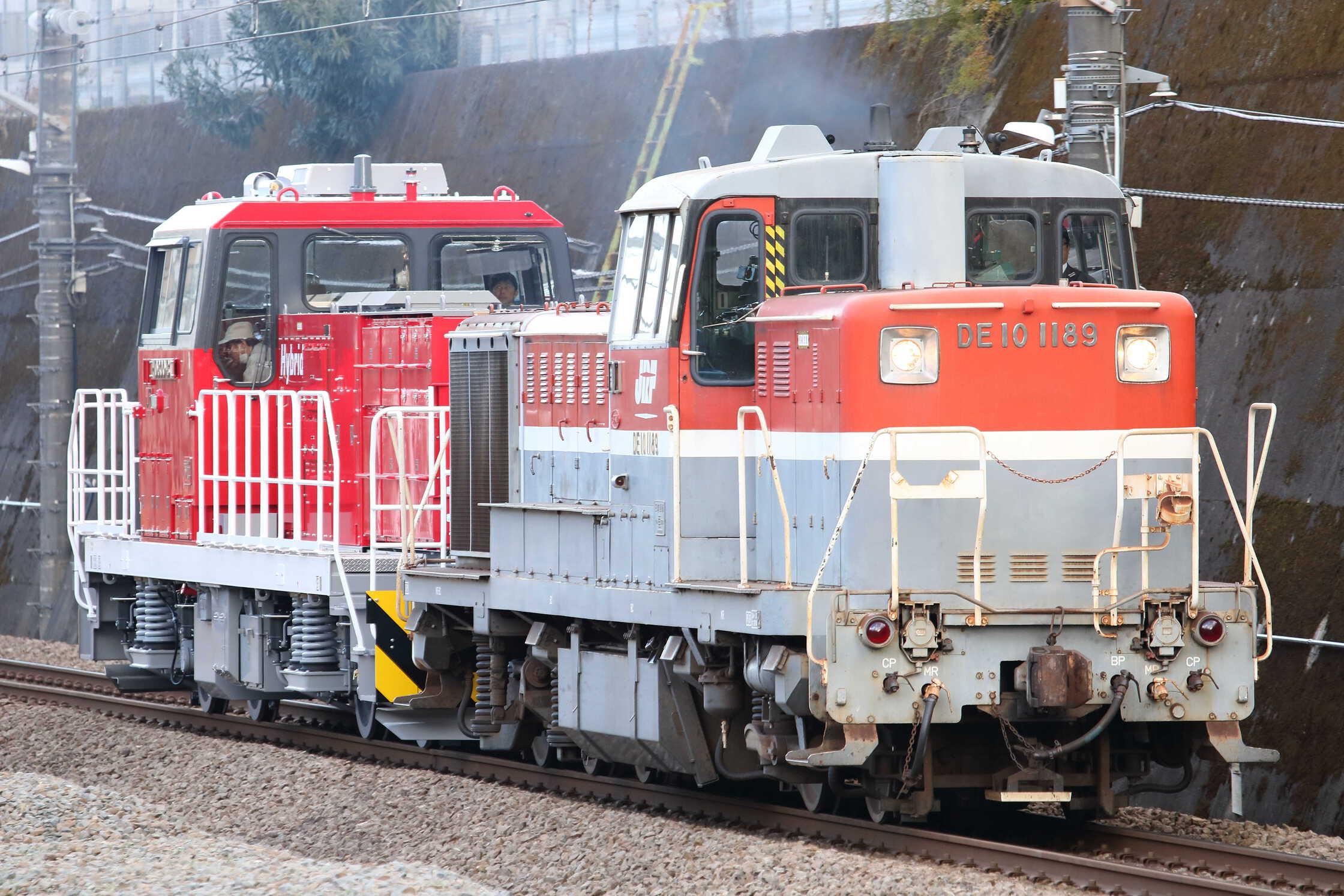 9794列車 甲110(北府中〜新鶴見) 東芝府中事業所出場甲種輸送 DE10-1189[新]+HD300-31