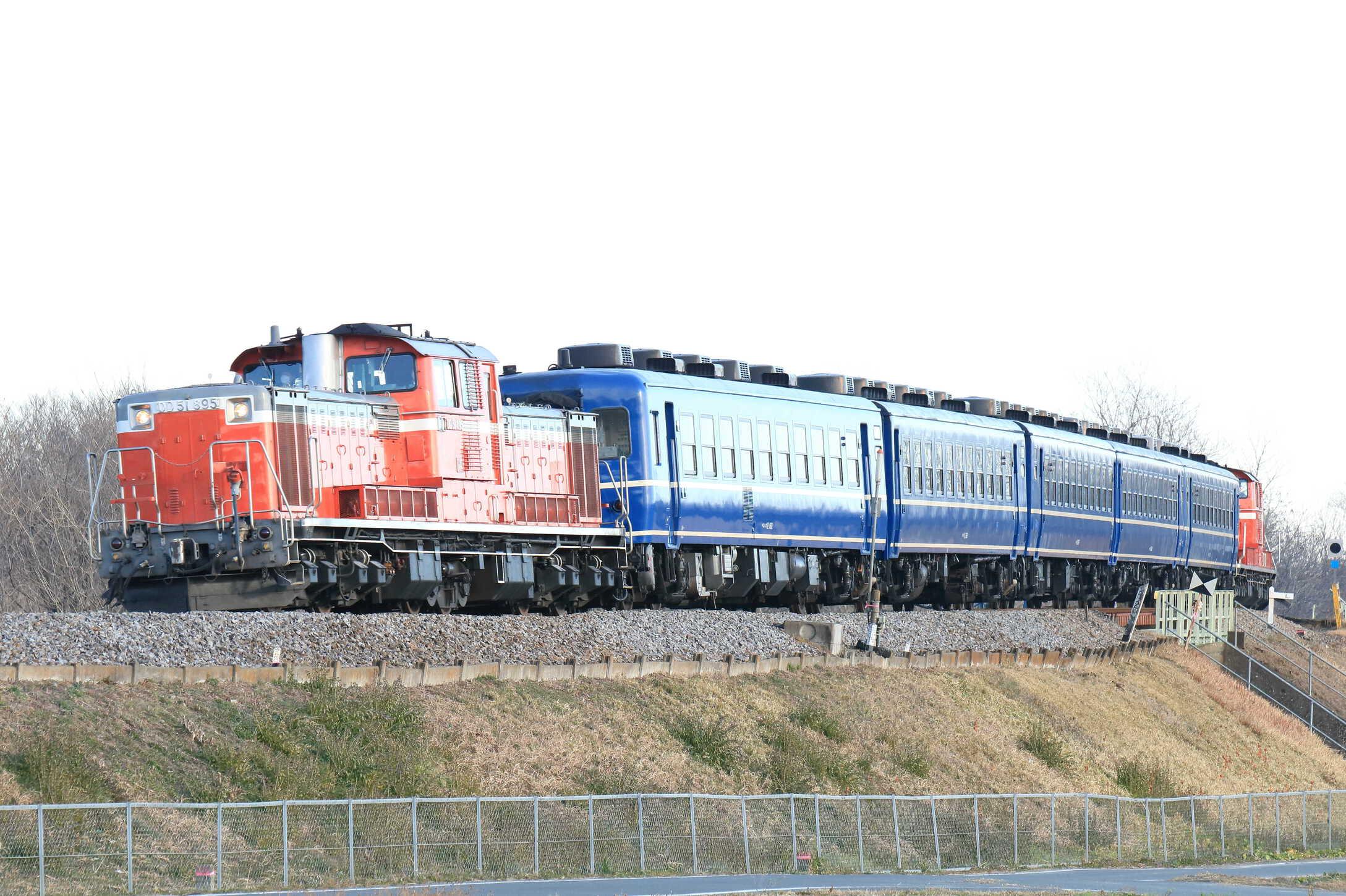 試9231列車 高崎運輸区DL転換訓練 DD51-895[高]+12系5両(高タカ)+DD51-888[高]