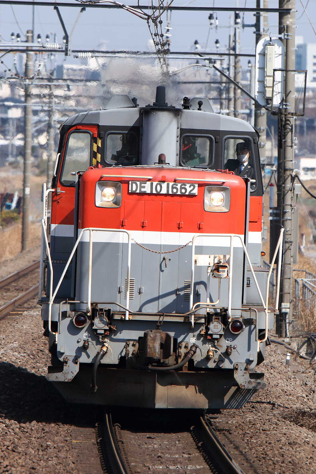 単9477列車 甲種輸送牽引機送り込み DE10-1662[新]
