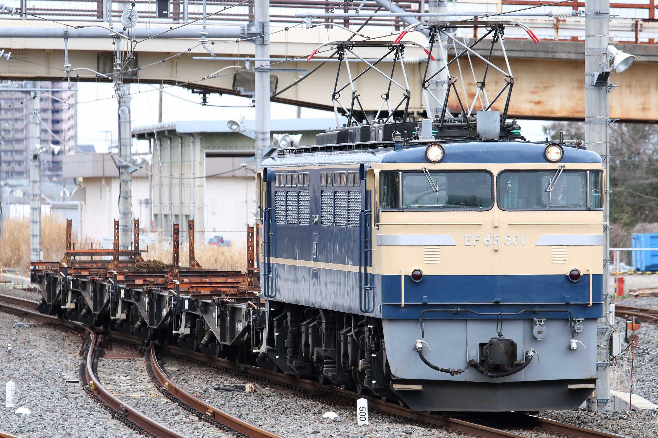 工9562列車 高崎操(吹上)工臨返空 EF65-501[高]+チキ4車