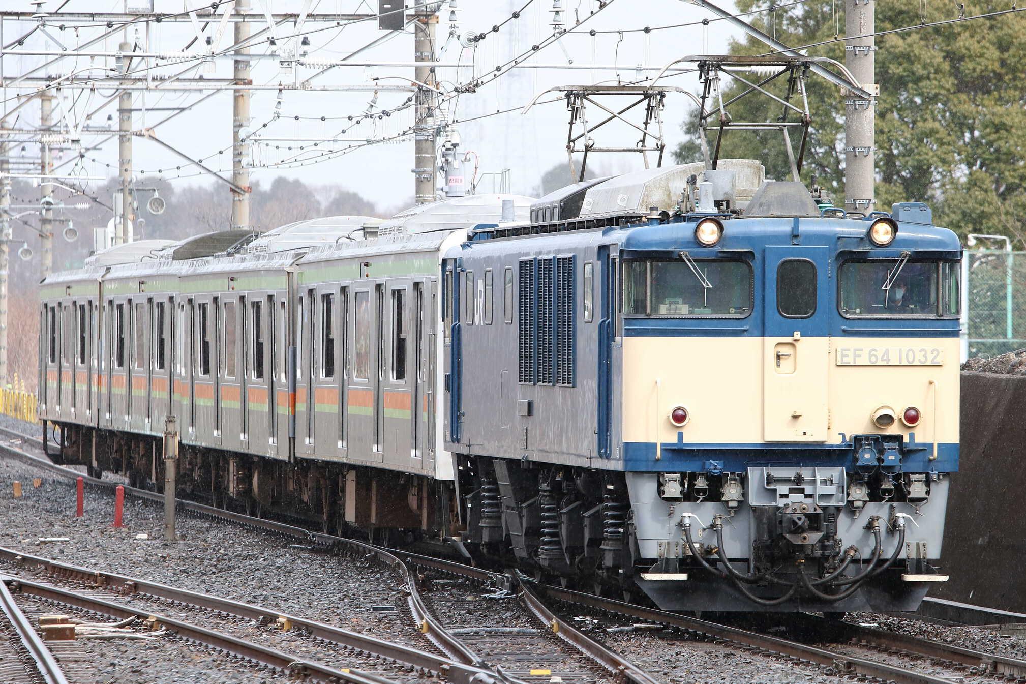 配9567列車 下新田疎開配給 EF64-1032[長岡]+209系 宮ハエ64編成