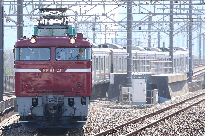 入換〜配9722列車 新津入場配給(ジャカルタ譲渡) EF81-140[長岡]+205系 千ケヨM16編成