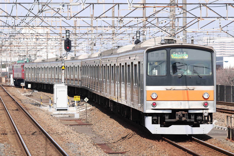 配9722列車 新津入場配給(ジャカルタ譲渡) EF81-140[長岡]+205系 千ケヨM16編成