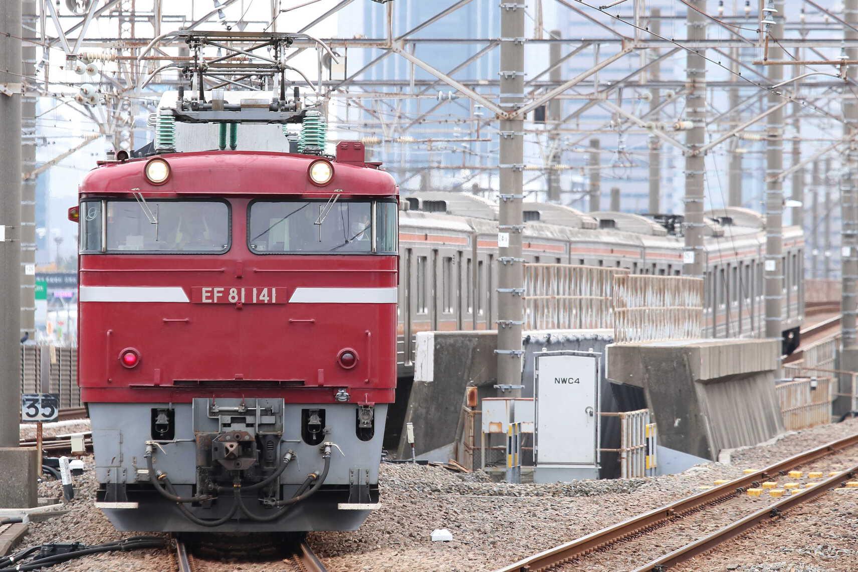 入換〜配9722列車 新津入場配給(ジャカルタ譲渡) EF81-141[長岡]+205系 千ケヨM32編成