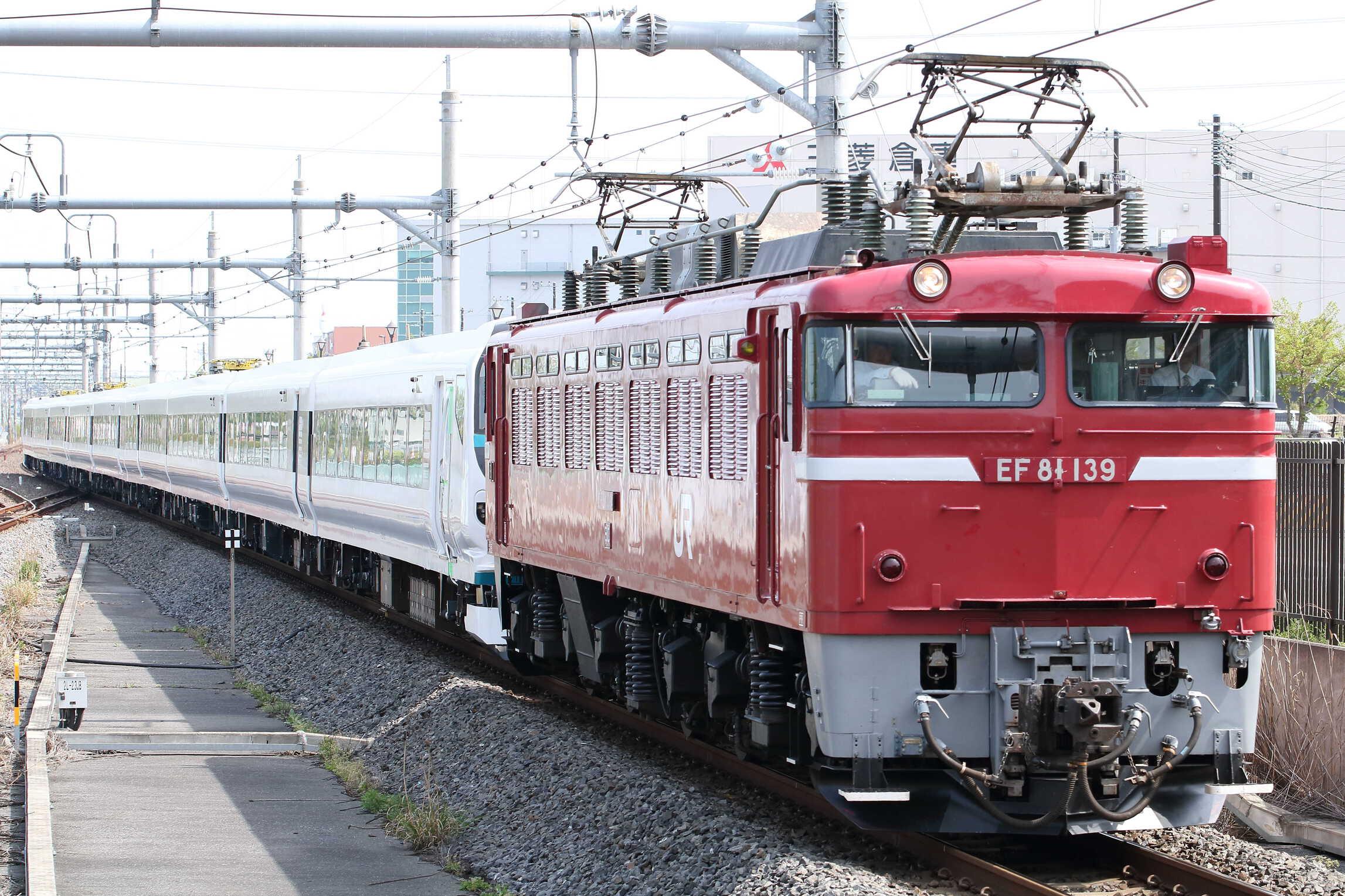 配9659列車 OM入場配給 EF81-139[田]+E257系 宮オオNA-09編成