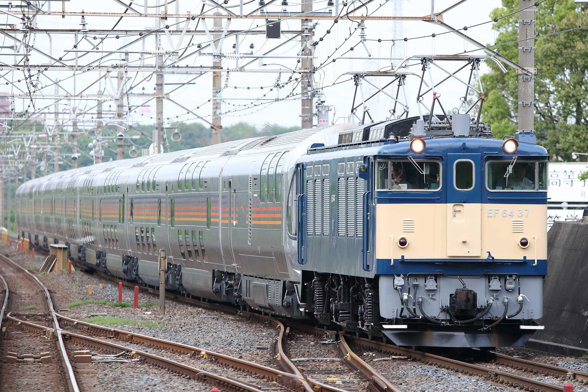 9011列車 団臨 信州カシオペア紀行 EF64-37[高]+E26系 東オク車12車