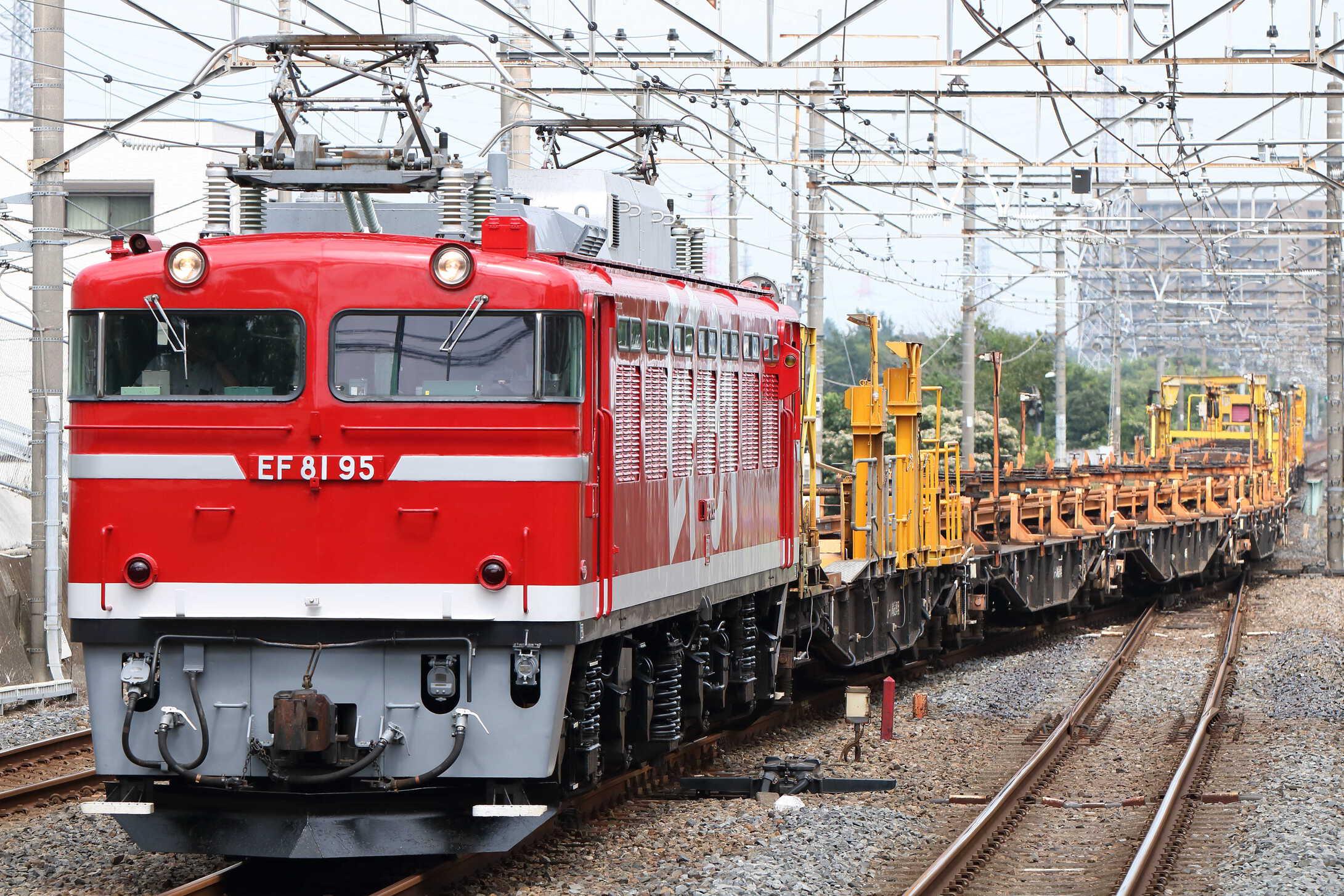 工9563列車 新津工臨(新北=8) EF81-95[田]+チキ10車