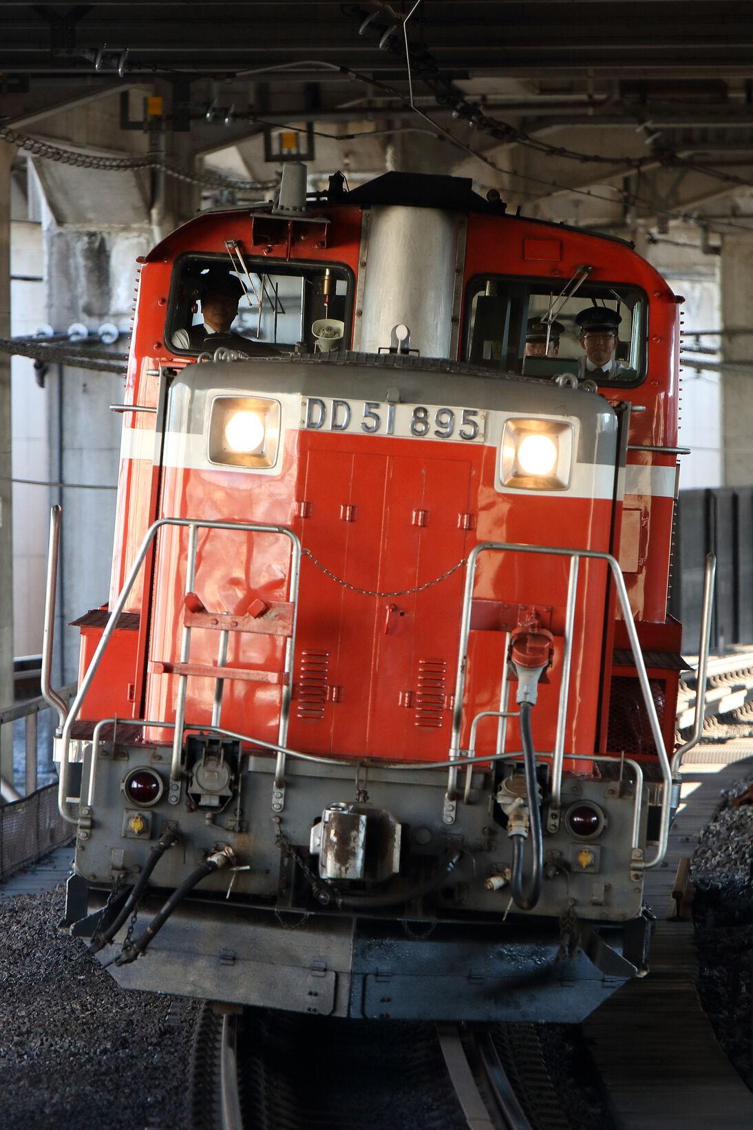 単9823列車 高崎運輸区ハンドル訓練 DD51-895[高]